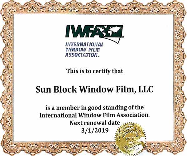 IWFA commercial window tint